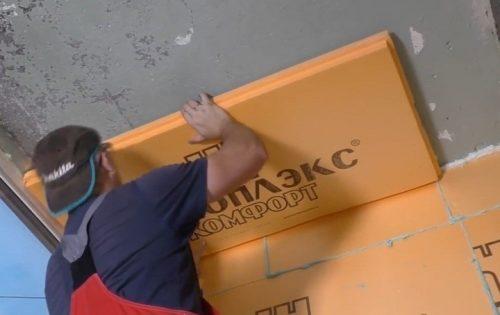 Монтаж ЭППС на потолок