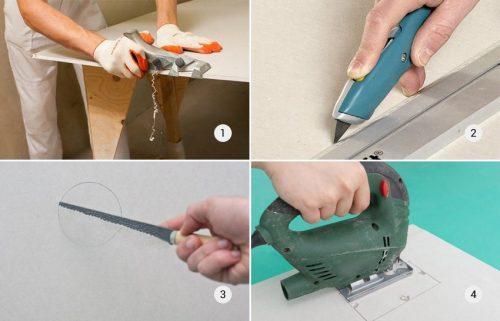 Основные инструменты для работы с гипсокартоном