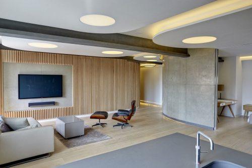 Современный интерьер с гипсокартонным потолком