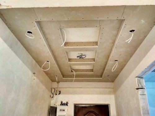 Трёхуровневый подвесной потолок из гипсокартона