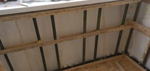 Деревянная обрешетка под обшивку ПВХ панелями
