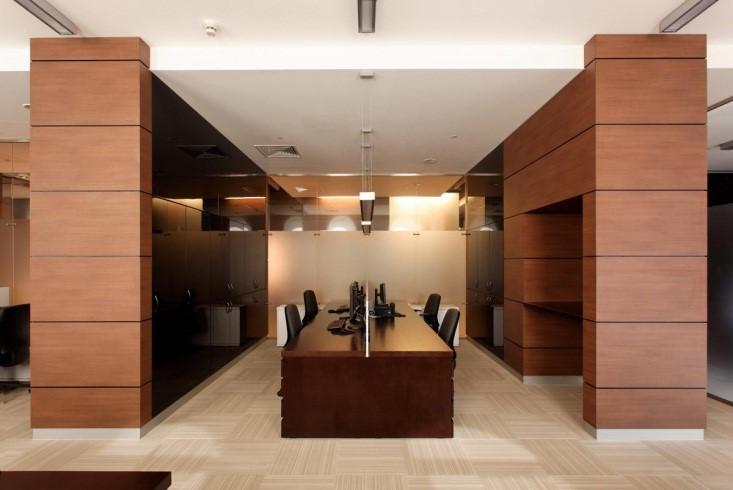 Панели ПВХ под дерево для внутренней отделки - офис
