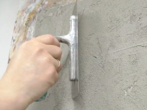 Шаг 5 – сухое заглаживание и доработка поверхности
