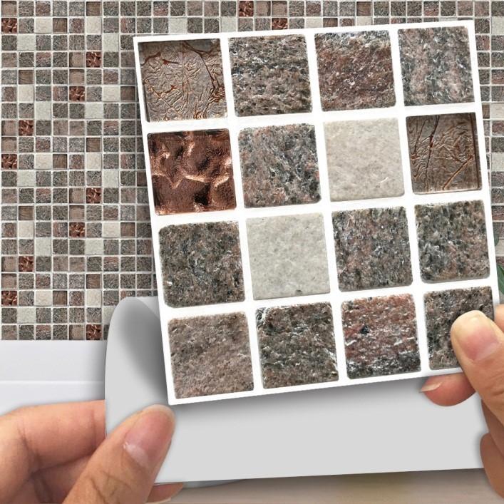 Стеновые ПВХ панели под камень для внутренней отделки в форме самоклеящейся плитки