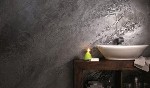 Вариант дизайна с арт-бетоном Asti