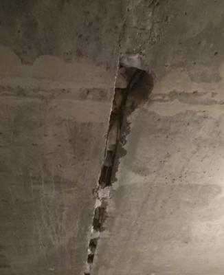 Расшитый шов на потолке