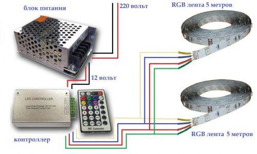 Схема сборки светодиодной ленты