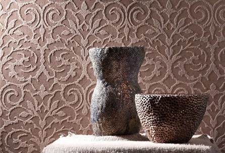 Объёмный рисунок нивелирует незначительные дефекты стен