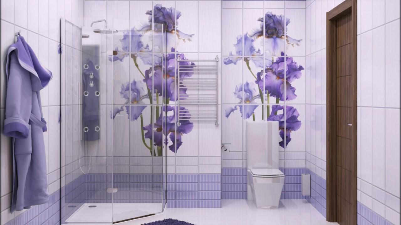 ПВХ с рисунком в ванной