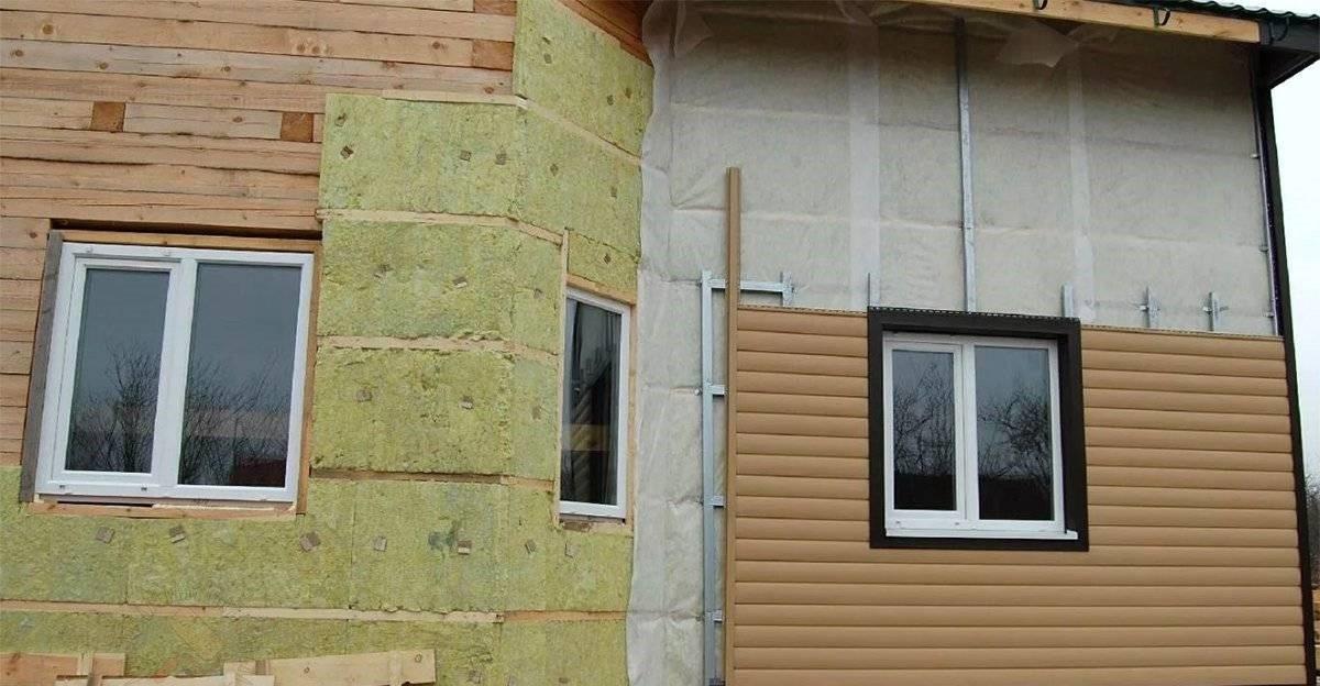 Установка сайдинга на деревянный дом – по утеплителю раскатана мембрана