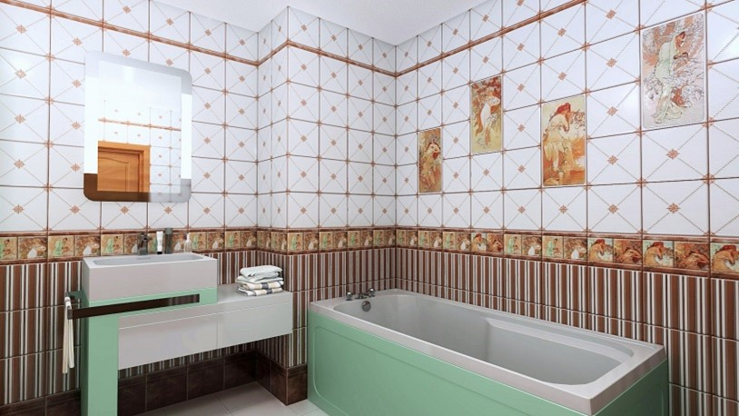Отделка ПВХ панелями ванной комнаты